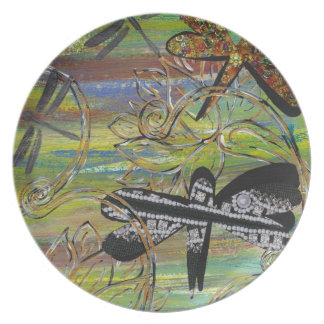 Dragonfly Jewels Plate