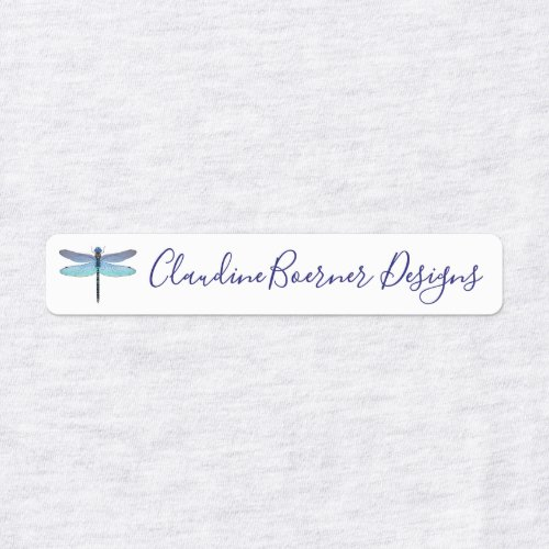 Dragonfly Labels for Fabric Crafter or Artist