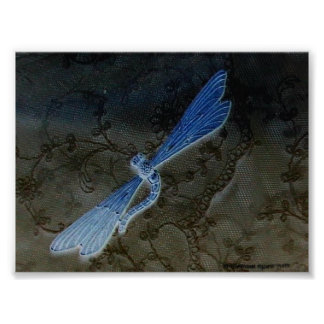 Dragonfly & Lace - Customized Poster