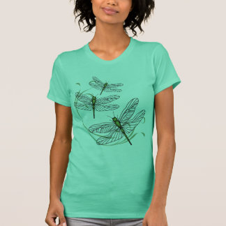 Dragonfly Ladies Green Fine Jersey T-shirt