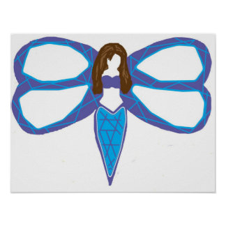 Dragonfly lady 2 poster