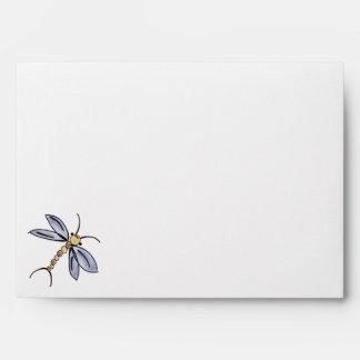 Dragonfly & Lady Bug Matching Invitation Envelopes