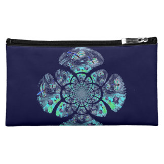 Dragonfly Lillies Flowers Pattern Makeup Bag