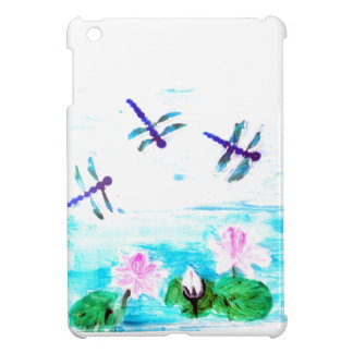Dragonfly, Lily Flowers Pond Painting Case For The iPad Mini
