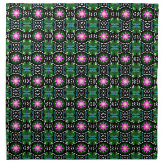 Dragonfly lily pad abstract pattern personalizable napkin