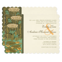 Dragonfly Lily Pad Fairy Tale Wedding Invitation
