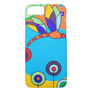 Dragonfly Lolipop Colorful Painting iPhone 7 Case