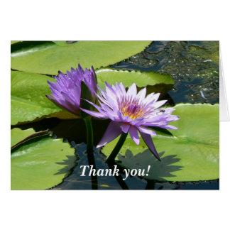 Dragonfly Lotus Card