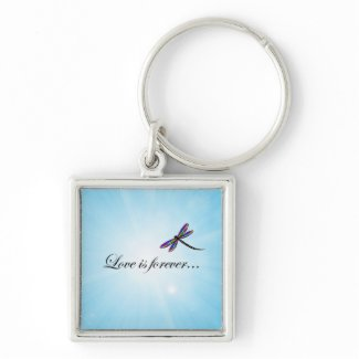 "Dragonfly ""LOVE is Forever"" Key Chain"