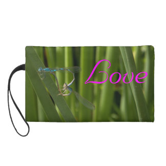 dragonfly love wristlet
