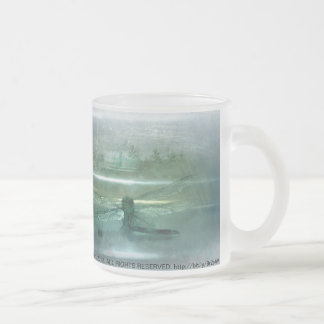 Dragonfly Macro 3 Frosted Glass Coffee Mug