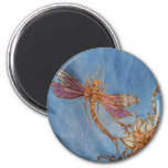 Dragonfly Magnet: Silk painted by Cyn Mc
