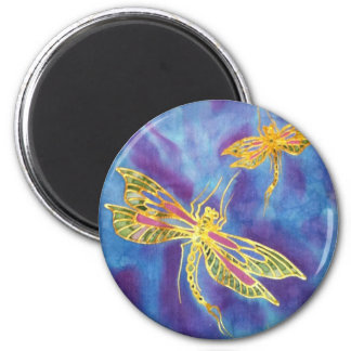 Dragonfly Magnet: Silk painted by Cyn Mc Magnet