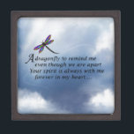 """Dragonfly  Memorial Poem Gift Box<br><div class=""""desc"""">Losing a loved one is never easy. Some BELIEVE that our loved ones will send us signs to let us know they are still with us in spirit. &quot;Always In Our Heart&quot; gift store offers a beautiful line of sympathy gifts and memorial keepsakes to keep their memory alive... ... .....</div>"""