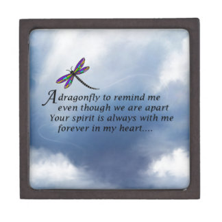 Dragonfly  Memorial Poem Gift Box