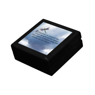 Dragonfly  Memorial Poem Trinket Box
