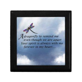 Dragonfly Memorial Poem Keepsake Box