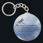 "Dragonfly  Memorial Poem Keychain<br><div class=""desc"">Losing a loved one is never easy. Some BELIEVE that our loved ones will send us signs to let us know they are still with us in spirit. &quot;Always In Our Heart&quot; gift store offers a beautiful line of sympathy gifts and memorial keepsakes to keep their memory alive... ... .....</div>"