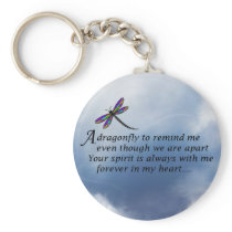 Dragonfly  Memorial Poem Keychain