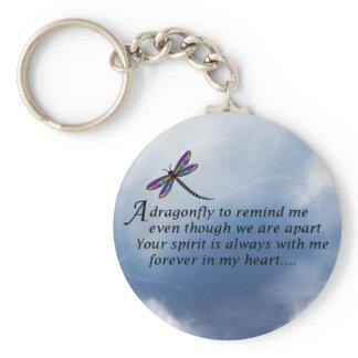 Dragonfly  Memorial Poem Keychain