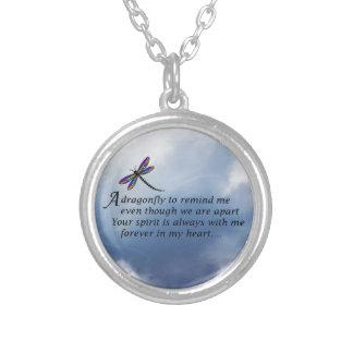 Dragonfly  Memorial Poem Custom Necklace