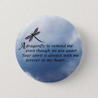 Dragonfly  Memorial Poem Pinback Button
