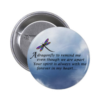 Dragonfly  Memorial Poem Pinback Button