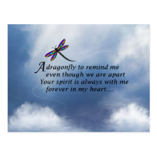 Dragonfly Memorial Poem Postcard