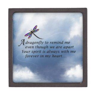 Dragonfly Memorial Poem Premium Jewelry Box