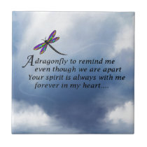 Dragonfly  Memorial Poem Tile