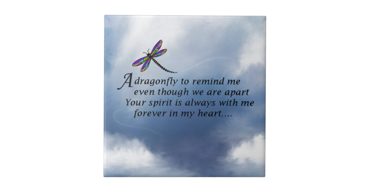 Dragonfly Memorial Poem Tile Zazzle Com