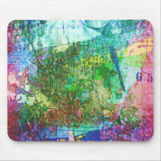 Dragonfly Mixed Media Collage Mouse Pads