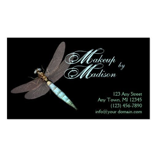 Dragonfly monogram business business card template zazzle for Dragonfly business cards