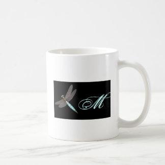 Dragonfly Monogram Business Coffee Mug