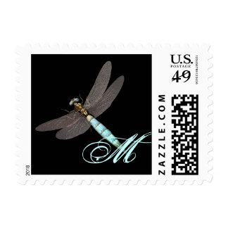 Dragonfly Monogram Business Postage
