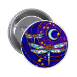 dragonfly moon 2 inch round button