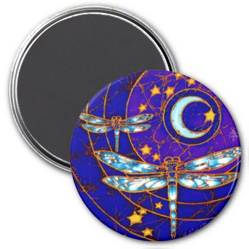 Dragonfly Moon Big Magnet