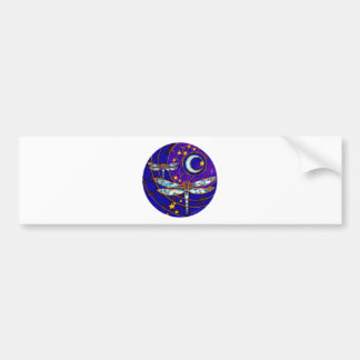 dragonfly moon bumper sticker