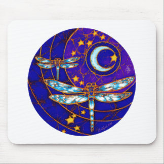 dragonfly moon mouse pad