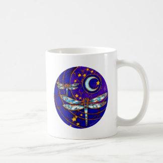 dragonfly moon mug