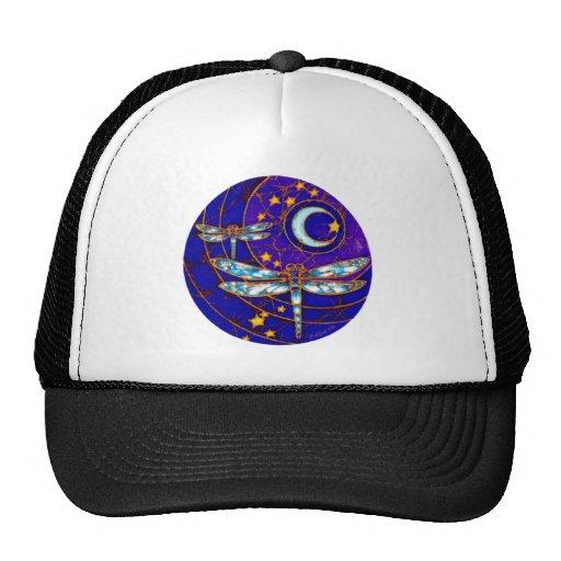dragonfly moon trucker hat