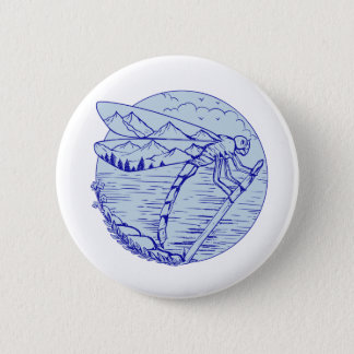 Dragonfly Mountains In Wings Drawing Button