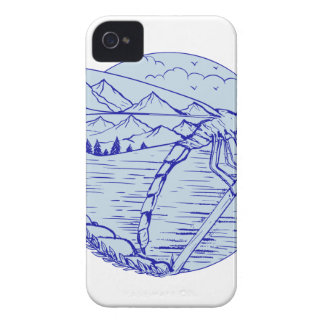 Dragonfly Mountains In Wings Drawing Case-Mate iPhone 4 Case