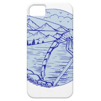 Dragonfly Mountains In Wings Drawing iPhone SE/5/5s Case