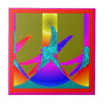 Dragonfly Mystic Rainbows by Sharles Tile