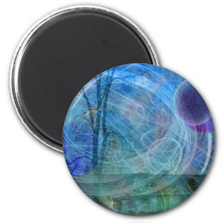 Dragonfly nature in motion 2 inch round magnet
