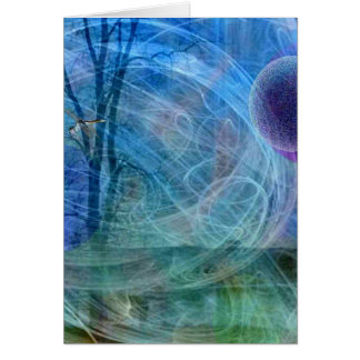 Dragonfly nature in motion card