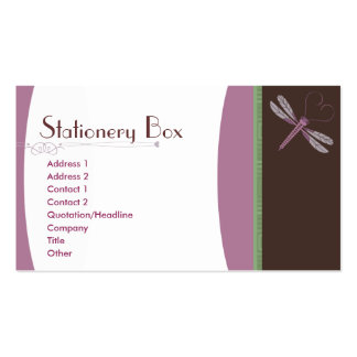 Dragonfly 'Neopolitan' Double-Sided Standard Business Cards (Pack Of 100)