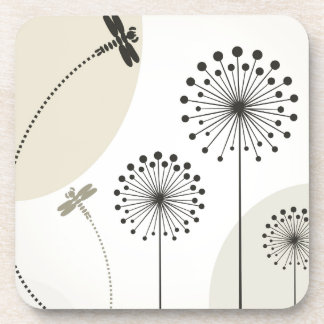 Dragonfly on a flower coaster