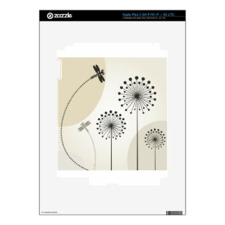 Dragonfly on a flower iPad 3 skins